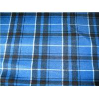 Buy cheap 100% polyester brushed baby plaid blue polar fleece product