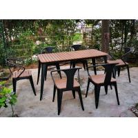 China Simple Modern Solid Wooden Outdoor Furniture Balcony Table Chair Set For Leisure Cafe Bar on sale
