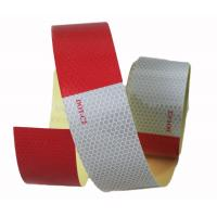 Buy cheap Honeycomb Red And White Reflective Safety Tape On Trailer 2 x 150