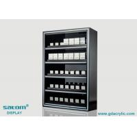 5 Layers Built-in Lighting Cigarette Display Cabinet With Gliding Pusher