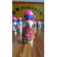 China OEM/ODM Factory Supply Custom china sports water bottle with sicilone rubber pvc cover on sale