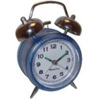 Buy cheap OEM design colourful polyresin clock with twin-bell product