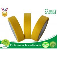 China Waterproof Colored Masking Tape Yellow Color No Residual Paper Masking Tape wholesale