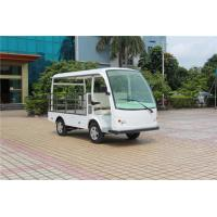 Buy cheap 900kg loading capacity White color electric mini truck 2 seats 48V/4KW with roof for factory /hotel from wholesalers