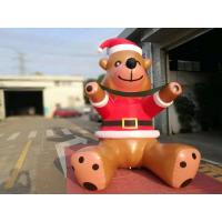 Buy cheap Customized PVC Printing Inflatable Christmas Decorations Bear Catoon For Commercial Show product