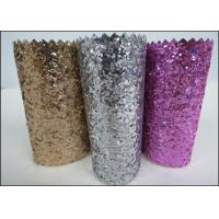 Buy cheap Custom Design Grade 3 PU Glitter Fabric 0.7mm For Making Hair Accessories product