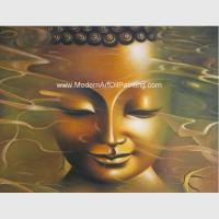 Buy cheap Modern Buddha Statue Oil Painting , Handmade Abstract Canvas Oil Paintings from wholesalers