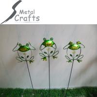 Home And Garden Decoration Animal Frog Metal Crafts