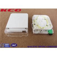 Buy cheap Indoor Wall Mount Fiber Termination Box Socket 1 Port SC Simplex LC Duplex Face from wholesalers