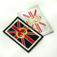 Buy cheap Individual Iron On Backing Clothing Embroidered Patches Custom Design Skin Friendly product