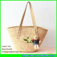 China LUDA fashion wheat straw beach bags discount designer handbags on sale