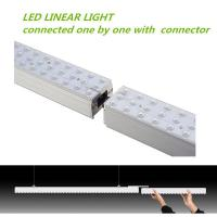 36W 130 lm / w Supermarket Application Suspended Installation LED Linear Light