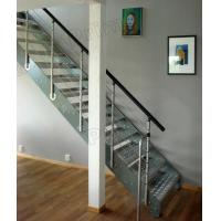 Buy cheap Wrought Iron Straight Staircase Stainless Steel Stair Balustrade product