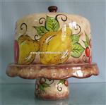 Buy cheap ギフトのための手の絵画が付いている個人化された旧式な型のビスケットの陶磁器のクッキー用の瓶 product