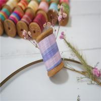 Buy cheap 7mm 002-004-005#  variegated silk ribbon,multicolor ribbon,rainbow 100% silk ribbon,ribbon,embroidery ribbon product