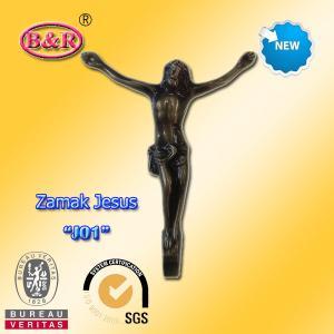 Buy cheap Zamak Jesus Part Funeral Accessory Bronze Color Size 12.5*16cm Material Zinc Alloy product