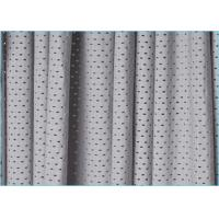 Quality Grey Cool Nylon Spandex Sheer Stretch Mesh Fabric with 85% Nylon 15% Spandex Material for sale