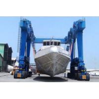 Buy cheap Yello Blue Rubber Tyred Gantry Crane For Boat Yacht Handling Electric Motors Driving product