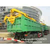 Buy cheap Custermizing tipper truck mounted Steel /Brick pillar / Wood grab crane FOTON SHACMAN ,HOWO, DFL, HINO  cell:86152713576 product