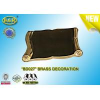 Buy cheap REF. BD027 Brass Scroll Tombstone Decoration Material Copper Alloy Size 9×13 Cm product
