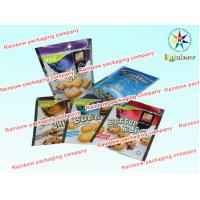 China Soft Plastic Printed Laminated Pouch Packaging , Cookie Reclosable Packaging Bag on sale