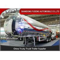 Buy cheap 40cbm fuel tanker semi trailer , Stainless steel water tank semi trailer product