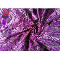 Buy cheap Pumpkin Printed Burnout Velvet Polyester Spandex Fabric For Christmas Dress product