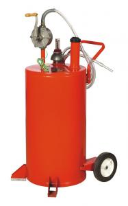 Buy cheap Fuel Transfer Pump 8 Ft 20 Gallon Rolling Waste Oil Drainer product