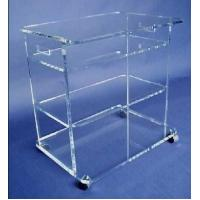 Buy cheap clear plexiglass lucite bar cart,acrylic food trolley for dining room product