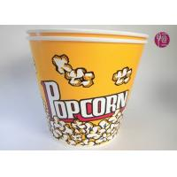 Buy cheap 180oz Volume 4850ml Disposable Flexo Print Paper Popcorn Bucket With Paper Lid product