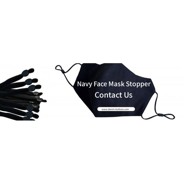 Navy Face Mask Stopper | Cord Silicone Adjuster