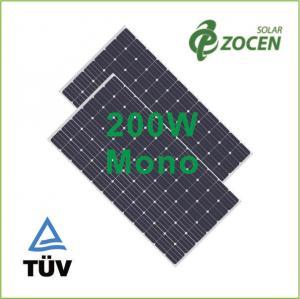 Buy cheap Panneaux solaires monocristallins anti-vieillissement d'EVA de 200 watts pour le dessus de toit/camping product