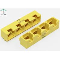 Buy cheap 1 X 4 Ports Ee Rj45 Multiple Port Connectors / Right Angle Plug And Play RJ45 Bticino Lan Port product