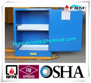 Buy cheap Porte simple de casier inflammable acide chimique corrosif bleu de meuble de rangement product