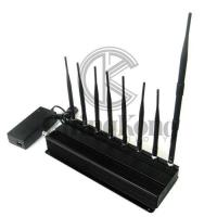 Buy cheap 8 Antennas Remote Control Signal Jammer With 2.4G 5.8G Or GPS Lojack product