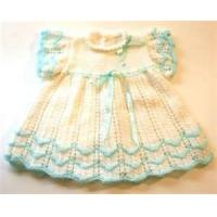 China Dot printing Cap Sleeve Round Neck baby girl knitted dress For Summer with Fashion Design on sale