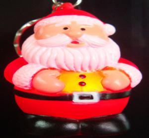 Buy cheap Papai Noel pequeno deu forma ao diodo emissor de luz Keychain de piscamento do PVC para presentes relativos à promoção do Natal product