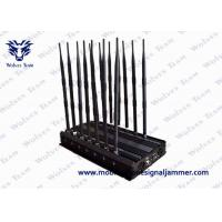 Buy cheap Adjustable 14 Antennas Powerful WiFi Mobile Phone Signal Jammer 50 Meters Range from wholesalers
