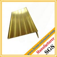 Buy cheap Brass extrusion stair nosing profiles copper profiles for stair nosing C38500 CuZn39Pb3  CuZn39Pb2 CW612N C37700 product