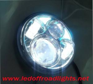 China 5 inch angel eye high/low beam 40W LED headlights,led headlamp,H13 harley fog light on sale