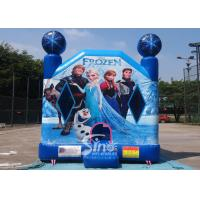Quality Commercial Grade Kids Frozen Inflatable Bounce Houses With Pillars inside Obstacles For Parties for sale