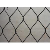 Buy cheap High Durability Black Oxide Wire Rope Mesh / Animal Bird Cage Fencing CE Certificated product