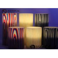 Multi Color Real Wax Flameless Candles Set Of 2 For Home Decoration
