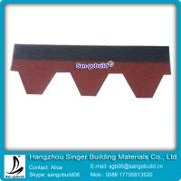 China Double color and single color asphalt shingle for roofing materials on sale