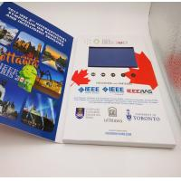 Buy cheap Rechargeable Flip Book Video brochure / booklet , lcd invitation card with usb product