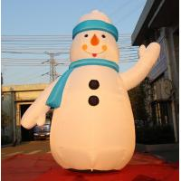 Buy cheap 8OZ Fabric Inflatable Christmas Decorations / Blow Up Snowman For Winter product