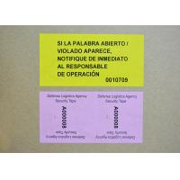 Buy cheap High residue VOID Security Labels application for seal high value packages product
