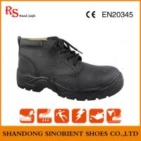 China Hot selling in the chile market all genuine leather steel toe safety shoes ,Mining work shoes for heavy duy on sale