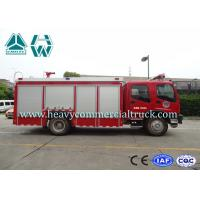 Quality Isuzu 6 Tons Single Row Fire Fighter Car Customized Design 4X2 5000L for sale