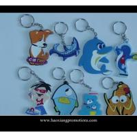 China NEW Design 3D Cartoon PVC Keychain/key ring/keyring for promotional gifts on sale